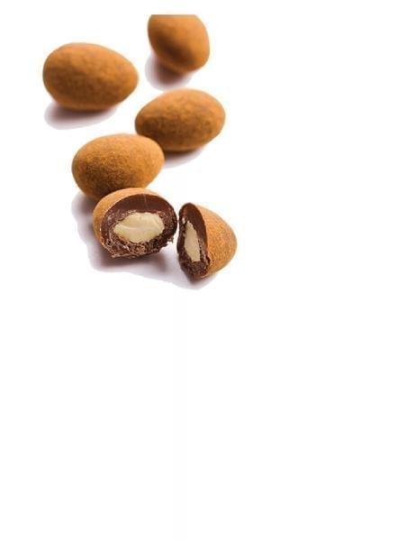 Mandeln in Zartbitterschokolade mit Kakao (1kg)
