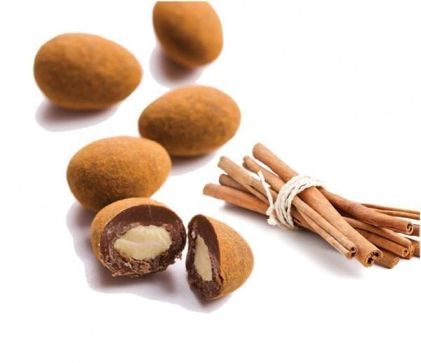 Mandeln in Milchschokolade mit Ceylon-Zimt (100g)