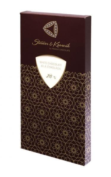 Tafel Weiße Schokolade 240g mit Naturvanille steiner&Kovarik - Hochwertige in Handarbeit hergestellte edle Weisse Schokolade 27%