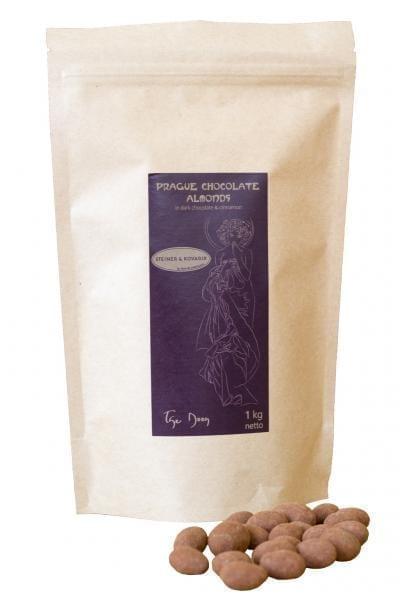 Mandeln in Zartbitterschokolade mit Ceylon Zimt 1kg. - Hochwertige in Handarbeit hergestellte edle Zartbitterschokolade - Ein purer Genuss aus Schokolade.