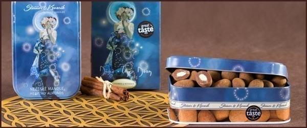 Nüsse in Schokolade