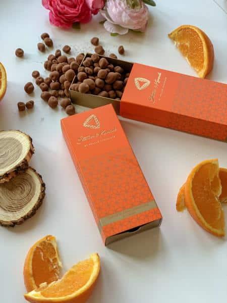 Kandierte Orangen in Bitterschokolade und Kakao (150g)