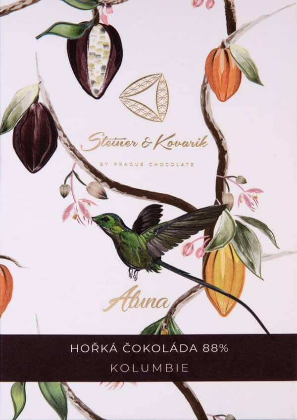 Steiner&Kovarik Aluna Bean to bar Schokolade Kolumbien Columbien Kokoszucker Kolibri sorgfältig ausgewählten Kakaobohnen Tafelschokolade einzigartig Geschmack reichhaltig an Mineralien Triumph