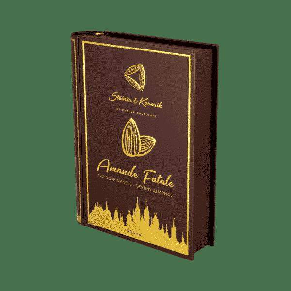 Amande fatale - Nicht nur ein wunderschönes Geschenk. Amande Fatale – verführerische Mandeln - verzaubern Jeden. Das Buch enthält vier verschiedene Geschmacksrichtungen unserer Mandeln in Schokolade (jeweils 100g), verpackt in einer edlen Blechdose. - Mandeln in Zartbitterschokolade mit Kakao - Mandeln in Milchschokolade mit Ceylon-Zimt - Mandeln in Milchschokolade mit Ingwer - Mandeln in Zartbitterschokolade mit Chili und Salz